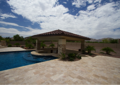 Classic Travertine pool tiles