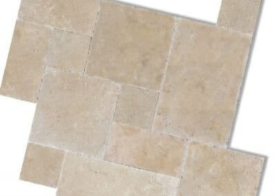 IVORY GROUT FILLED TRAVERTINE