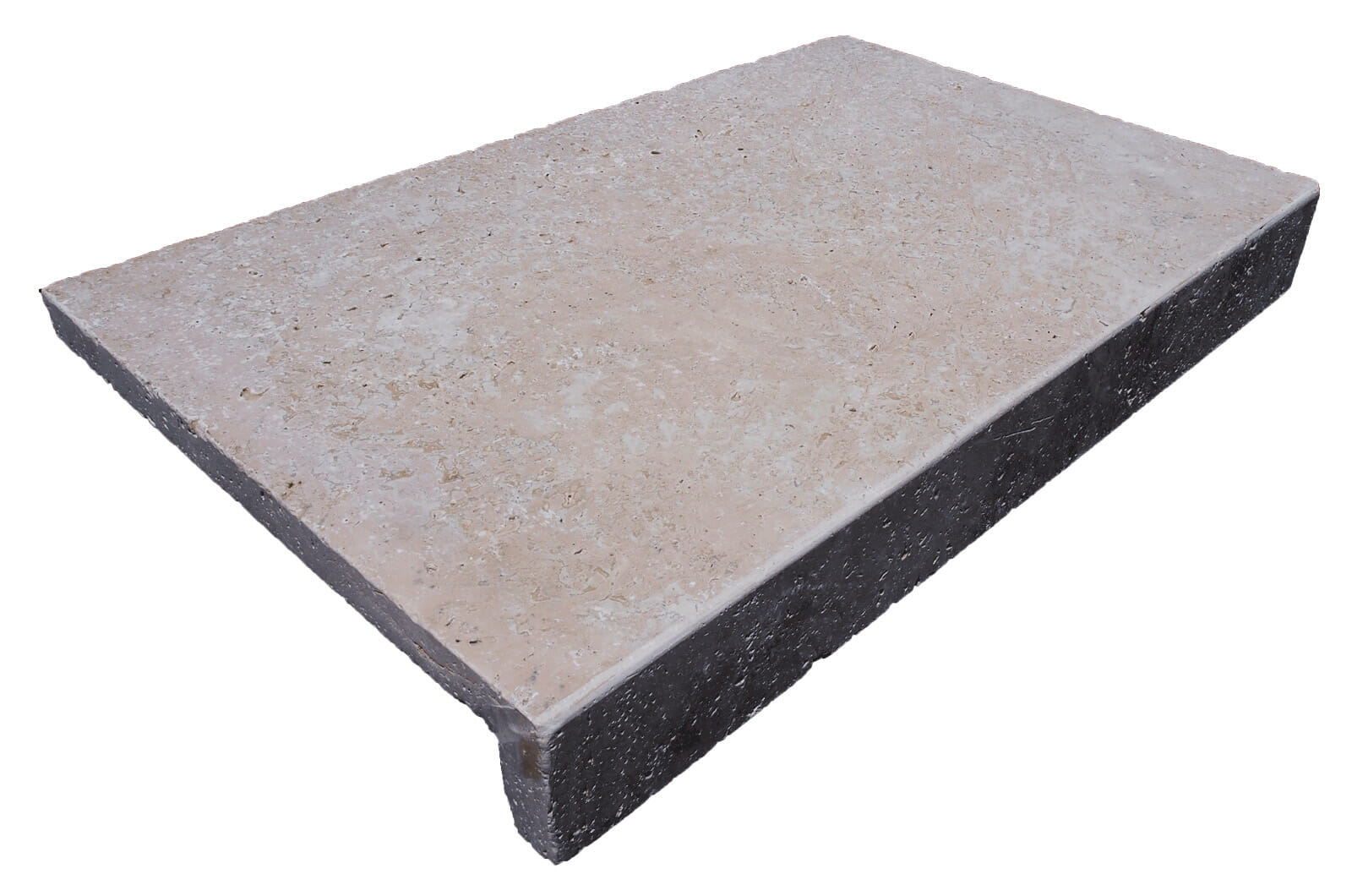 IVORY TRAVERTINE DROP FACE POOL COPING TILE