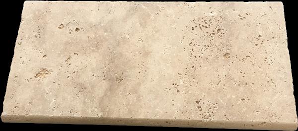 Ivory travertine tumbled edge pool coping tiles