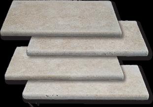 Ivory travertine bullnose edge pool coping tiles