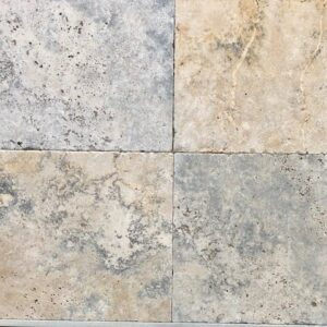 antique travertine unfilled and tumbled pavers