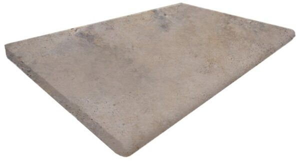 Ivory and Grey Bullnosed Pool Coping Tile
