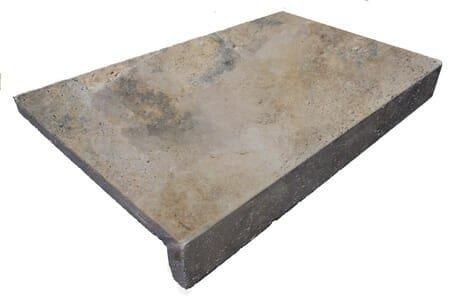 Antique Travertine Rebate Pool Coping Tiles