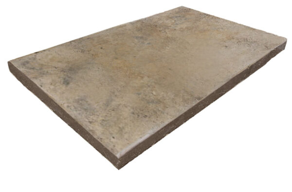 antique Travertine Pool Coping unfilled and tumbled