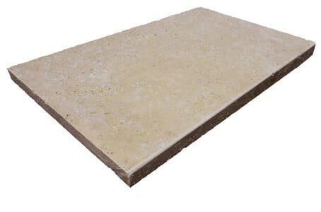 Noce Travertine Tumbled Edge Pool Coping Tiles
