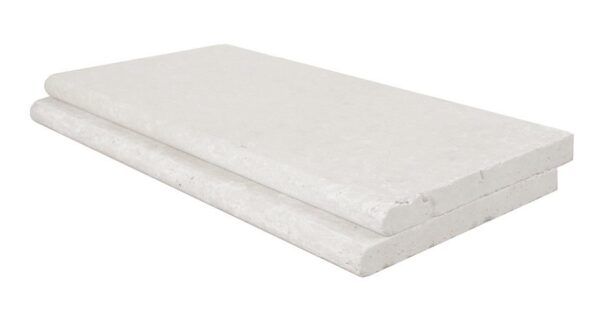 White Curved Pool Coping Tile