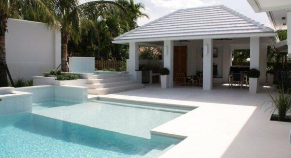 capri White limestone Pool Coping Tiles