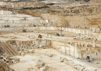 Denizli ivory travertine quarry Turkey