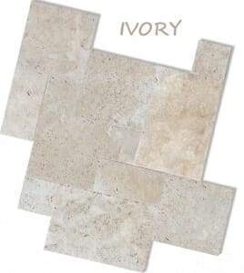 Ivory travertine tiles