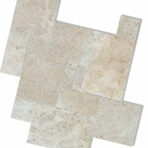 ivory travertine unfilled and tumbled french pattern