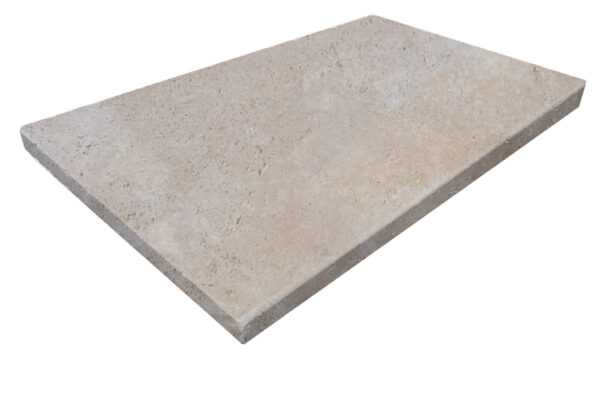 Ivory Travertine Tumbled Edge Travertine Pool Coping