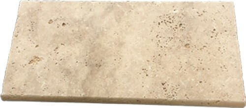 Ivory travertine tumbled edge pool coping tiles