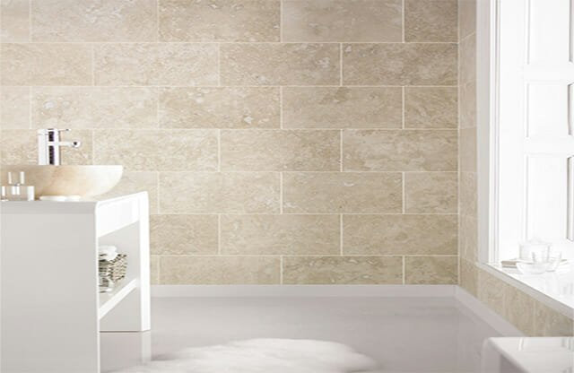 Ivory Travertine in Bathroom