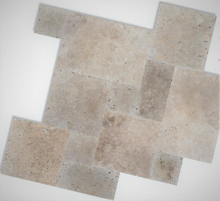 FRENCH PATTERN CLASSIC TRAVERTINE TILES
