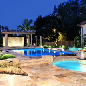 noce travertine unfilled and tumbled pool coping tiles pool pavers