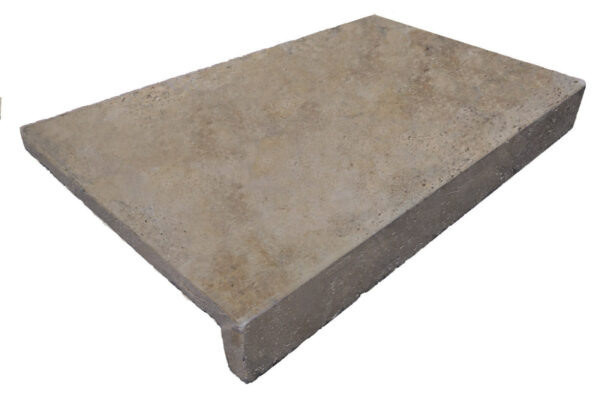 Noce Travertine rebate drop face Travertine Pool Coping