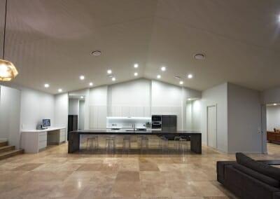 Noce travertine floor tiles in kitchen
