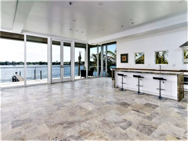 Silver Travertine Floor Tiles