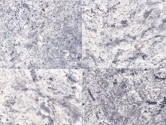Silver Travertine Tiles Tumbled And Unfilled Standard