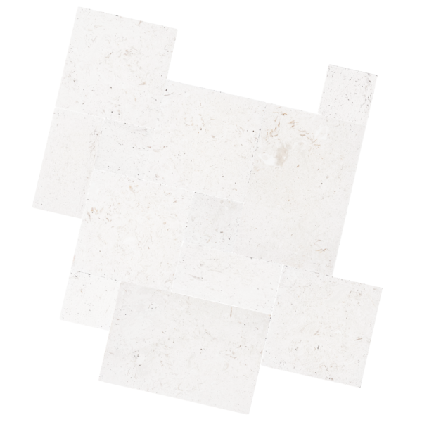 Shell White Limestone french pattern