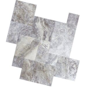 Silver Grey Outdoor Travertine Tiles