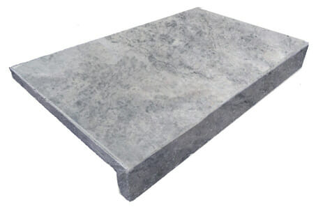 SILVER TRAVERTINE DROP FACE POOL COPING TILE