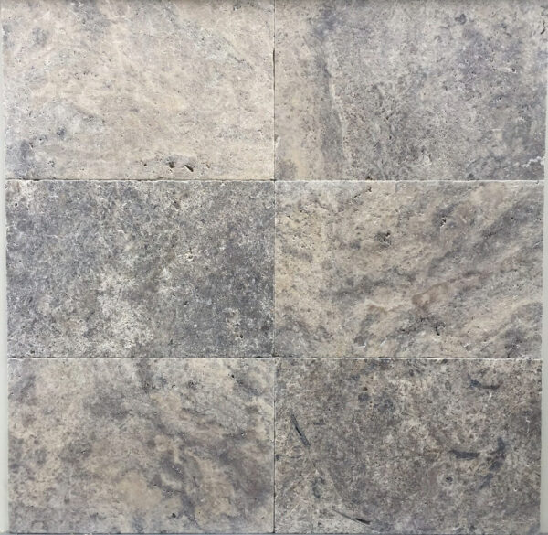 Silver Travertine Tumbled and Unfilled Tiles