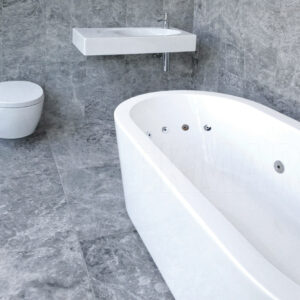 silver honed and filled bathroom tiles and wall tiles