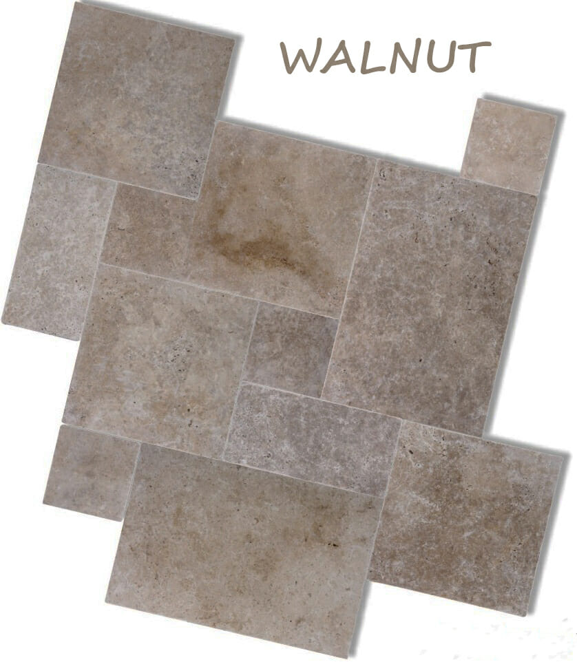 WALNUT TRAVERTINE TILES