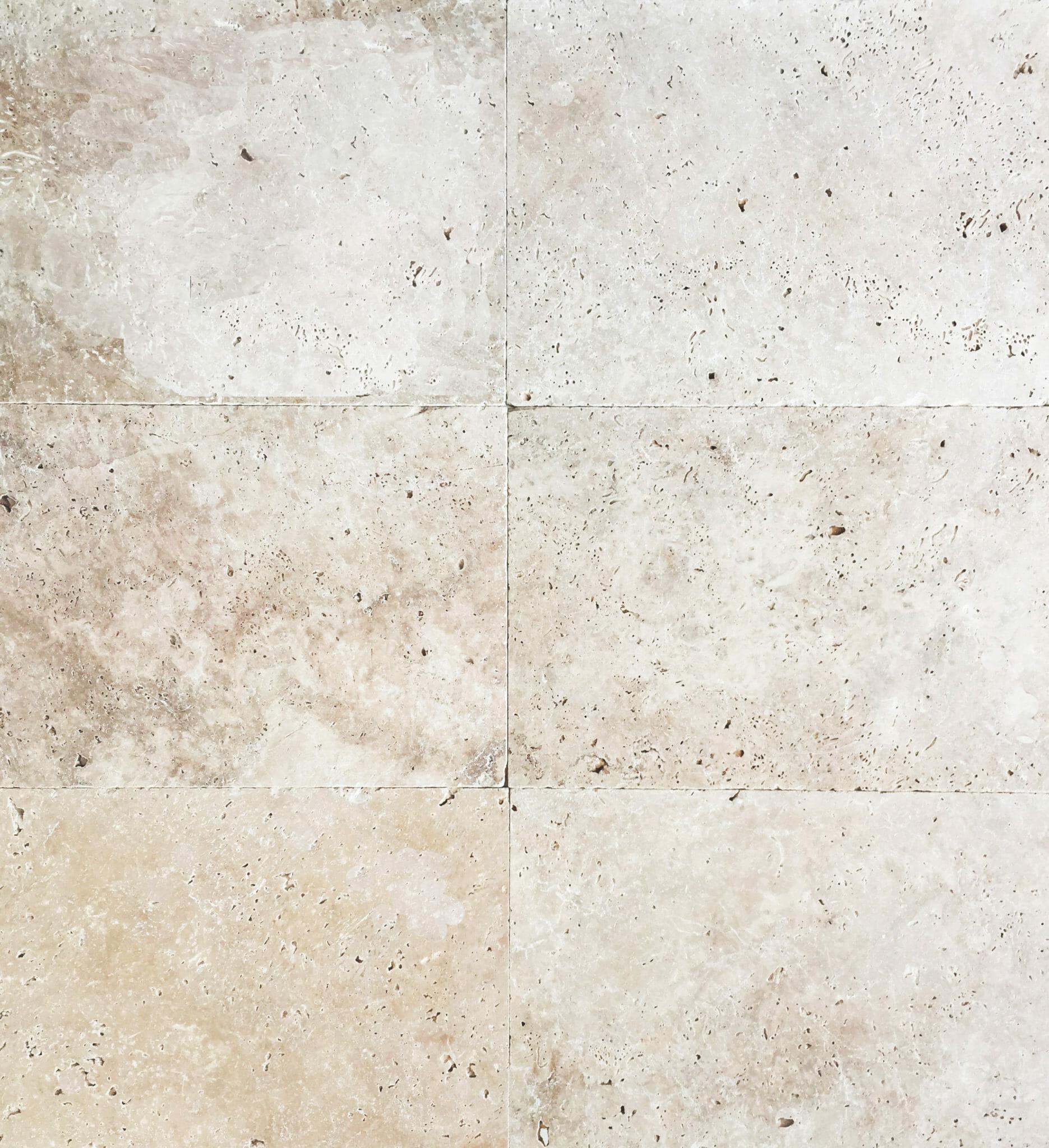 Travertine Kitchen Tile White