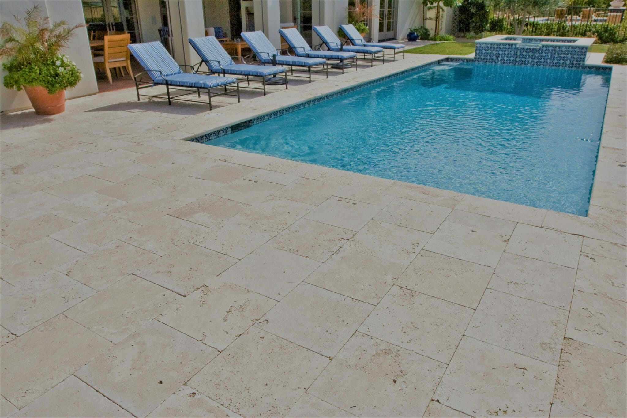 Travertine Pavers Around A Swimming Pool In Melbourne Travertine Tiles Melbourne Sydney