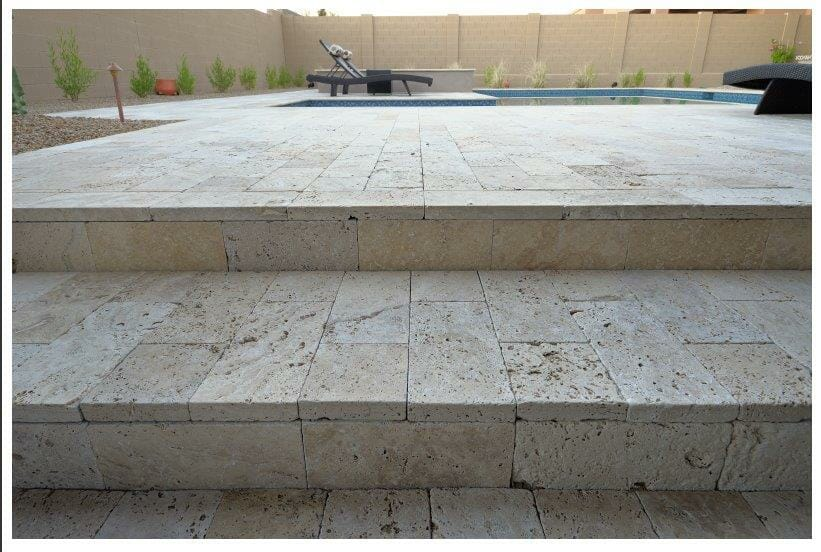 Travertine Tumbled Steps