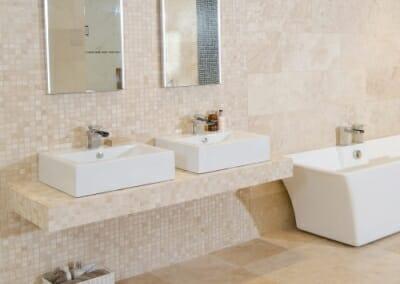 Travertine bathroom tiles