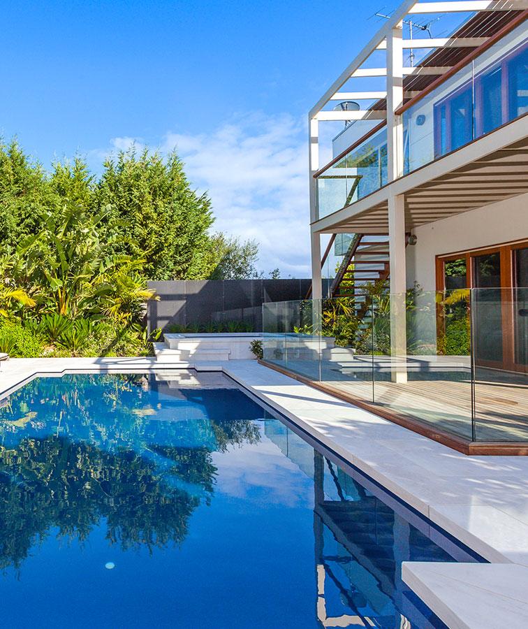 White pool tiles melbourne stone pavers