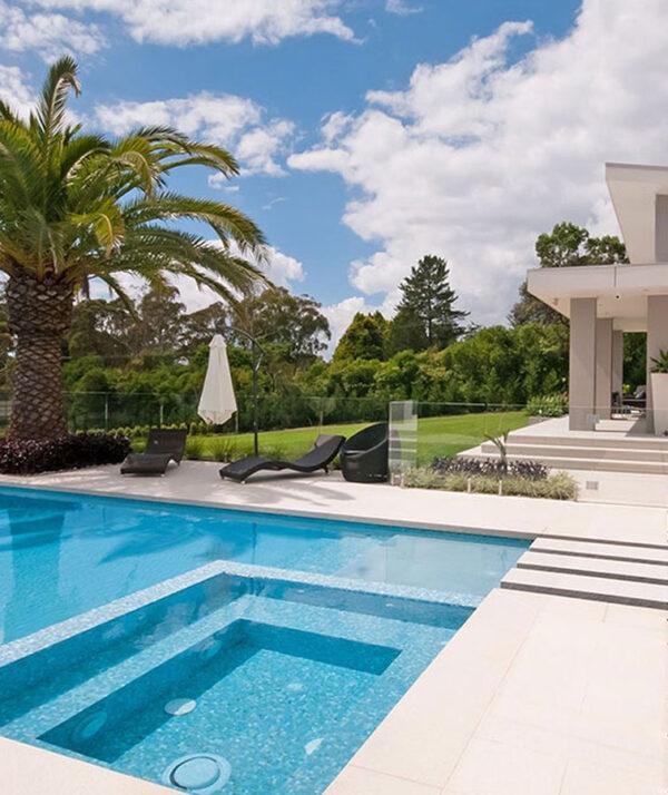 Brisbane white pavers tiles pool paving coping