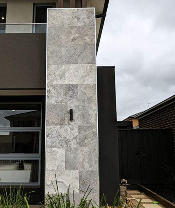 Silver travertine tiles pavers in Brisbane