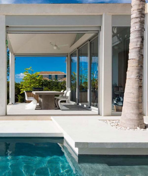 White tiles outdoor pavers white pool coping